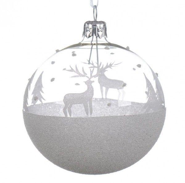 Decoration de sapin transparent eminza - Comment decorer une boule de noel transparente ...