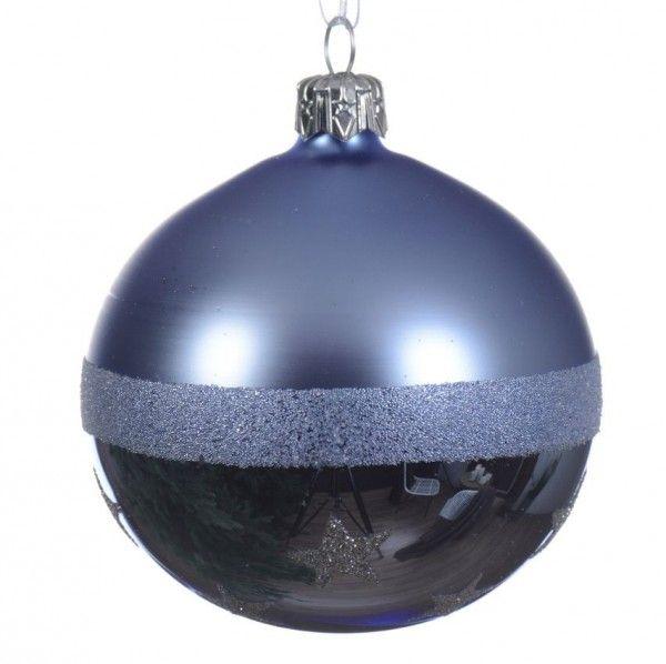 100 Weihnachtskugeln Eisblau Stern Baumspitze Baumschmuck Blau Weihnachten Kugel