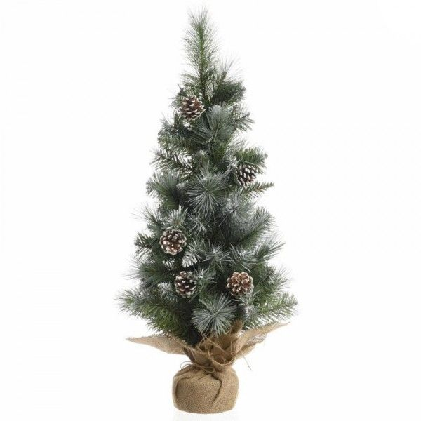 Sapin artificiel de table Sweden H75 cm Vert enneigé