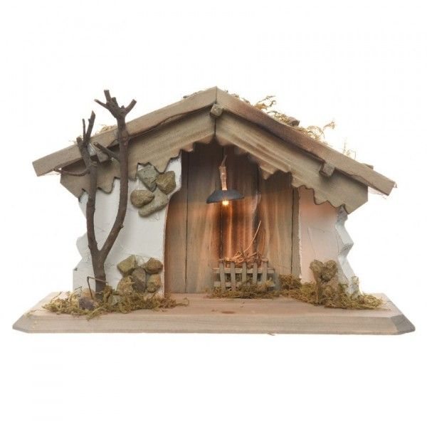 Creche De Noel Lumineuse Vide Saint Sidonie Creche Et Santon Eminza