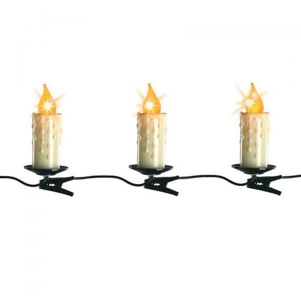 guirlande lumineuse bougie 6 m blanc chaud 16 led guirlande lumineuse pour sapin et maison. Black Bedroom Furniture Sets. Home Design Ideas