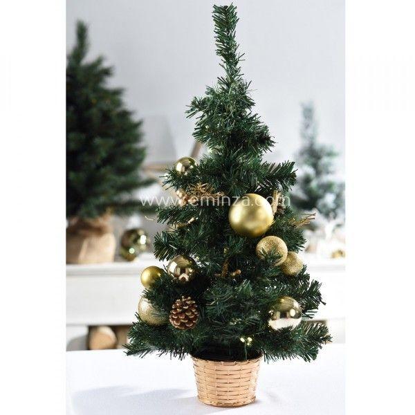 k nstlicher weihnachtsbaum mit beleuchtung versini h60 cm. Black Bedroom Furniture Sets. Home Design Ideas