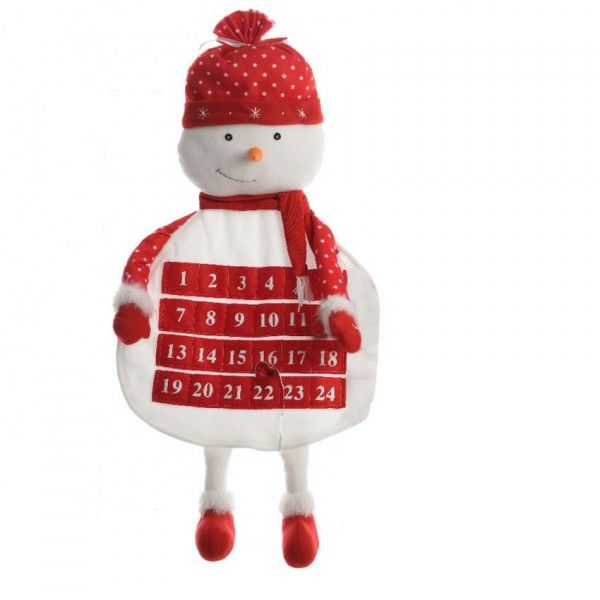 Supports d corer loisirs cr atifs eminza - Calendrier de l avent en bonhomme de neige ...