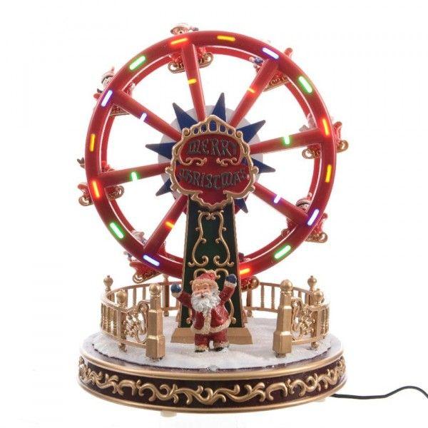 Animiertes Riesenrad mit Beleuchtung & Musik - Weihnachtsdörfer - Eminza