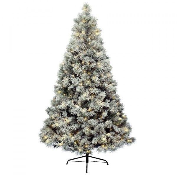 k nstlicher weihnachtsbaum mit beleuchtung vancouver h150 cm gr n verschneit kunsttannen. Black Bedroom Furniture Sets. Home Design Ideas