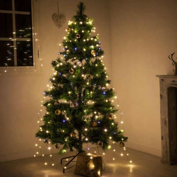 Rideau pour sapin Flashing light  H1,80 m Blanc chaud 252 LED
