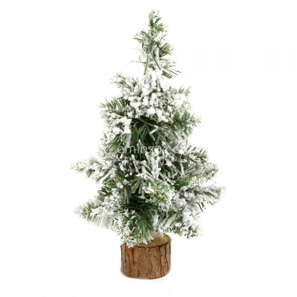 Sapin artificiel de table enneigé Blooming H25 cm Blanc