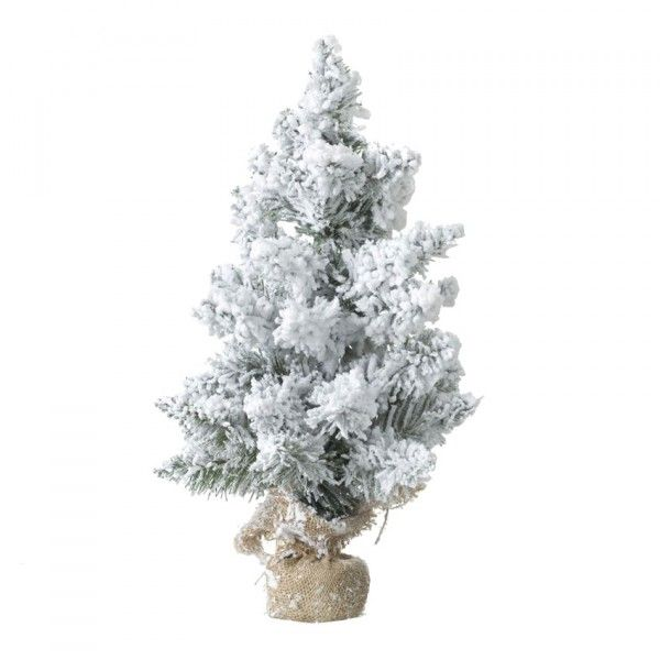 Sapin artificiel de table enneigé Blooming H50 cm Blanc