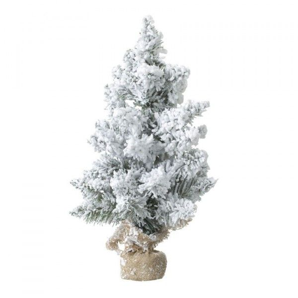 Sapin artificiel de table enneigé Blooming H70 cm Blanc