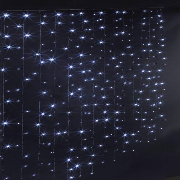 Rideau lumineux à piles H1,50 m Blanc froid 150 LED - Décoration ...