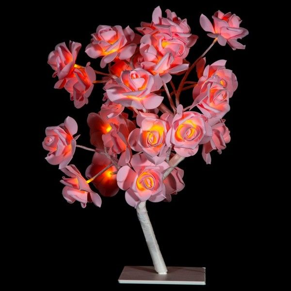 Arbre lumineux de table Gloria H45  cm Rose