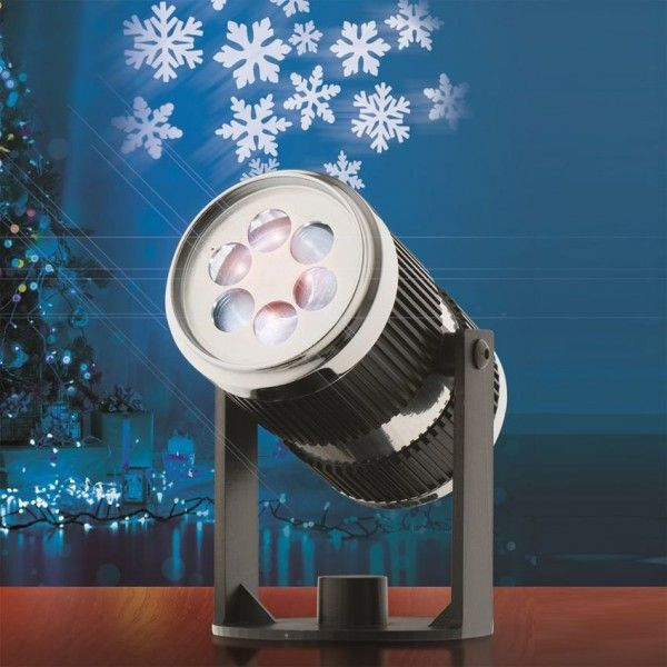 Projecteur laser Flocon Blanc froid 4 LED