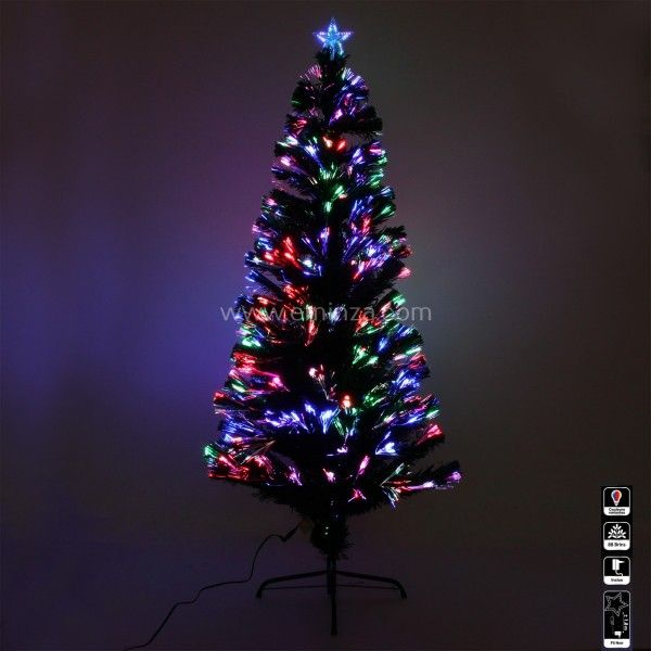 sapin de no l en fibre optique wilson h150 cm sapin et arbre artificiel eminza. Black Bedroom Furniture Sets. Home Design Ideas