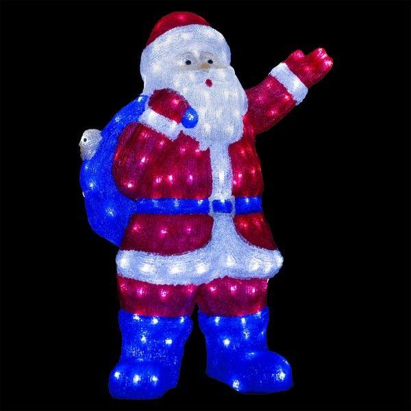 Père Noël lumineux Gaston Blanc froid 240 LED - Décoration lumineuse ... 7bb8cf9f1c28