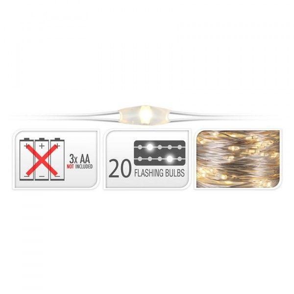 Lichtsnoer Flashing Light Warmwit 100 Micro Led