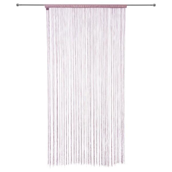 Rideau de fil 90 x 200 cm rose p le rideau voilage store eminza for Rideau occultant rose pale