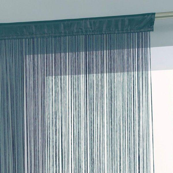 Rideau de fil (120 x 240 cm) Bleu orage - Rideau / Voilage / Store ...