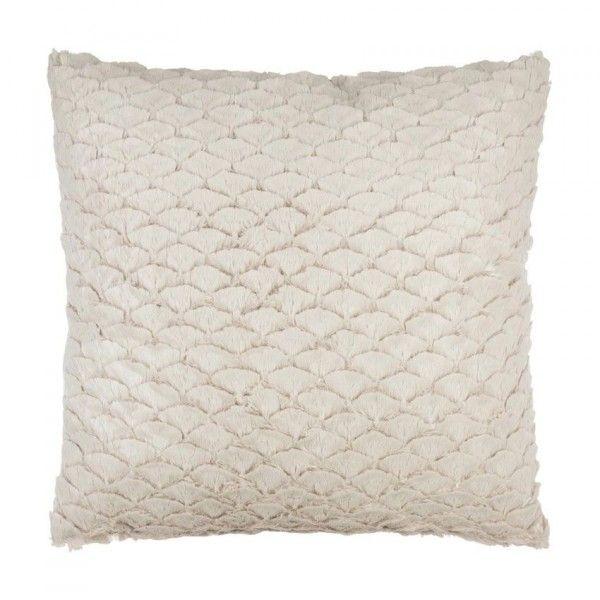 coussin fausse fourrure 40 cm sena blanc d co textile. Black Bedroom Furniture Sets. Home Design Ideas