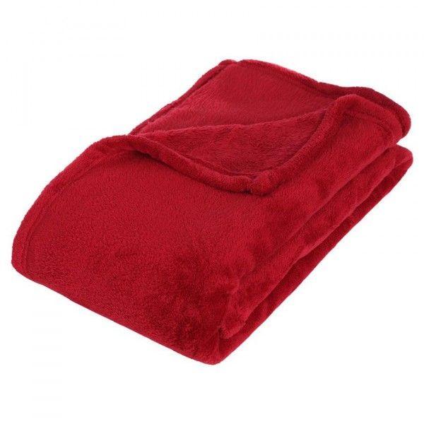 plaid cocooning rouge plaid et jet eminza. Black Bedroom Furniture Sets. Home Design Ideas