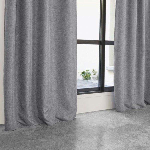 Rideau occultant (140 x 260 cm) Maille Gris clair - Rideau / Voilage /  Store - Eminza