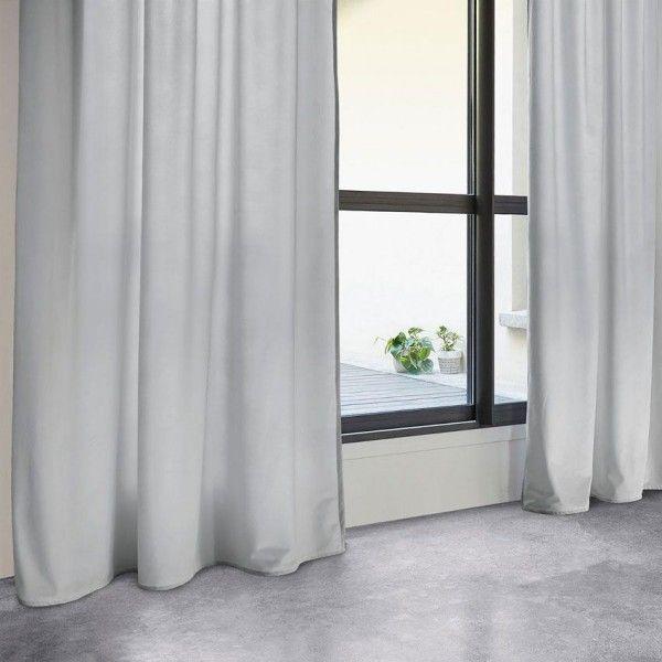 rideaux gris rideau et voilage 2 eminza. Black Bedroom Furniture Sets. Home Design Ideas