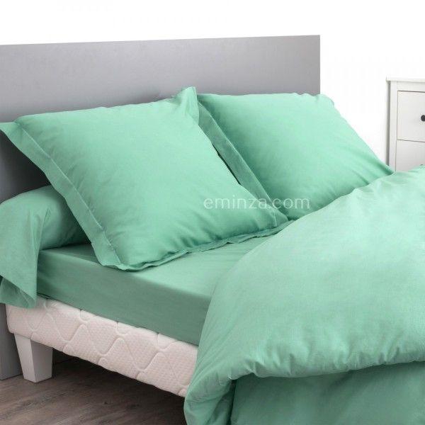 Drap Housse Coton Supérieur 160 Cm Confort Vert Amande