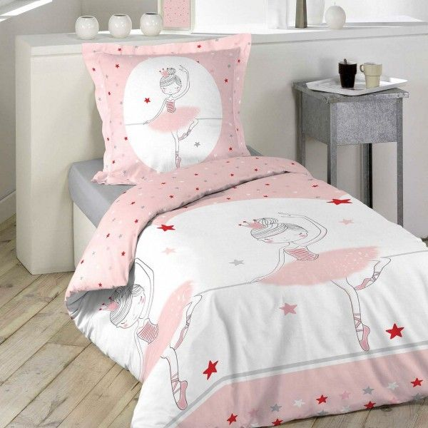 housse de couette et taie danseuse 100 coton 140 cm. Black Bedroom Furniture Sets. Home Design Ideas