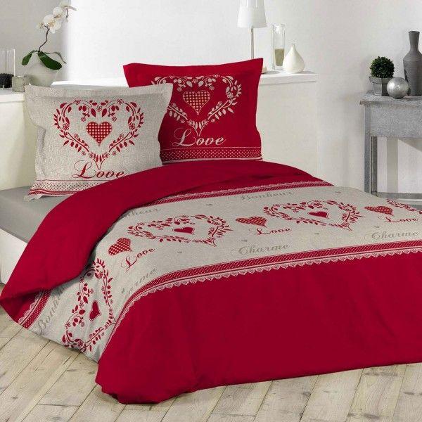 Housse de couette 260 x 240 cm linge de lit eminza - Housse de couette linvosges ...