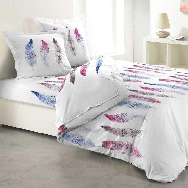 Parure de draps flanelle de coton lit 140