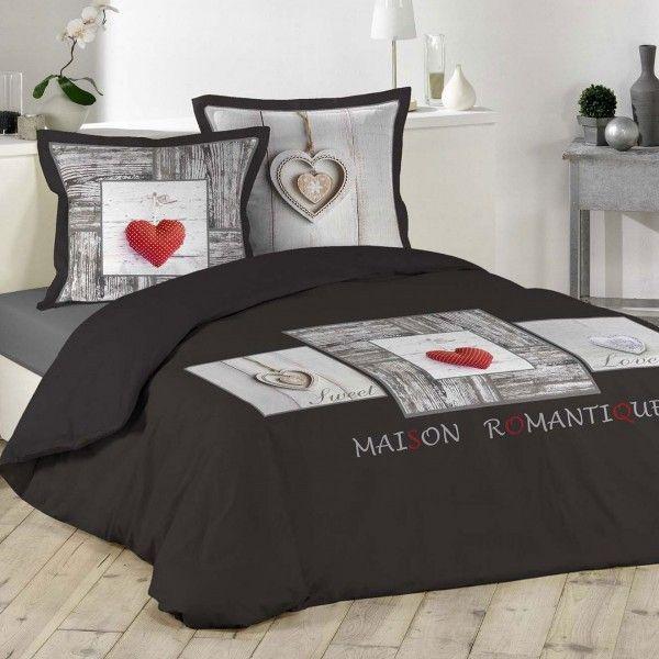 Linge de lit style montagne eminza - Housse de couette style romantique ...
