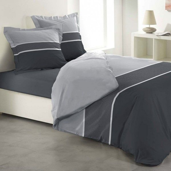 housse de couette 260 x 240 cm linge de lit eminza. Black Bedroom Furniture Sets. Home Design Ideas
