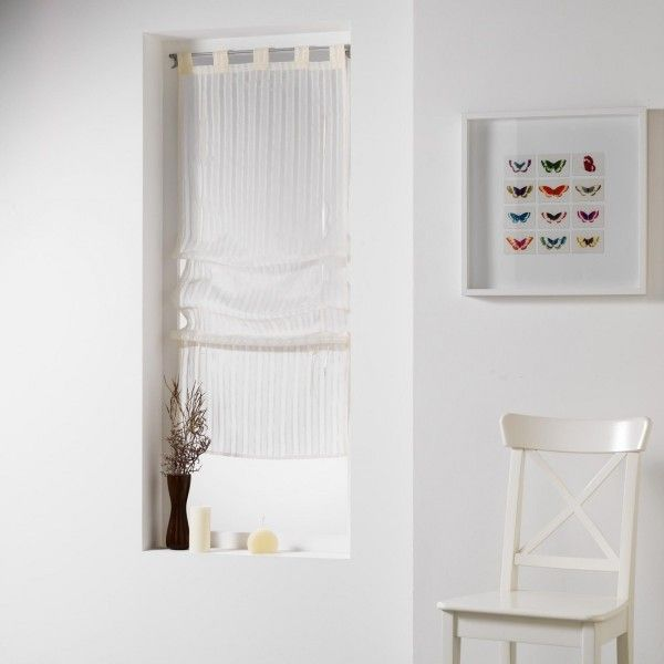Store voilage (90 x 180 cm) Lingnati Lin - Rideau / Voilage / Store ...