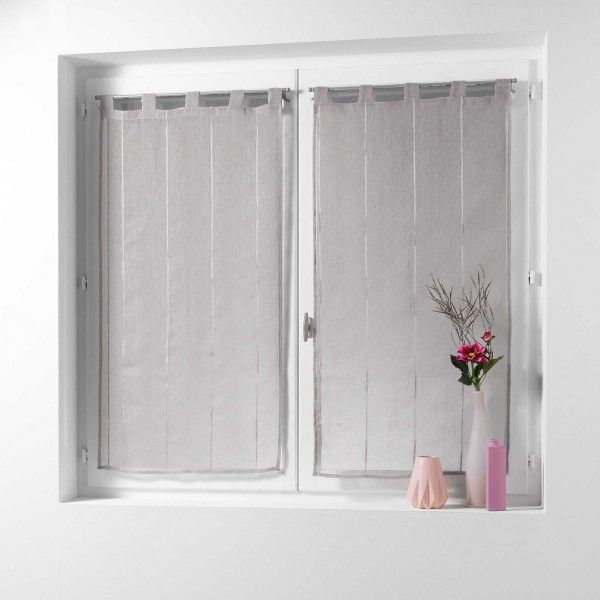 voilage vitrage taupe rideau et voilage eminza. Black Bedroom Furniture Sets. Home Design Ideas