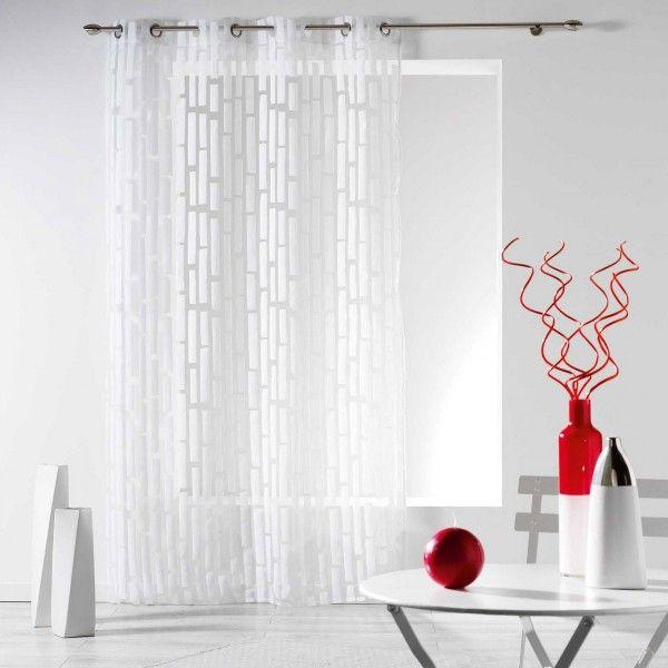 Rideau tamisant (140 x 240 cm) Organza Elytis Blanc - Rideau ...