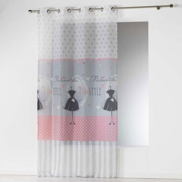 Voilage 140 X 280 Cm Couture Rose Pale Rideau Voilage Store