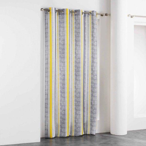 rideau tamisant 140 x 260 cm initio jaune rideau. Black Bedroom Furniture Sets. Home Design Ideas