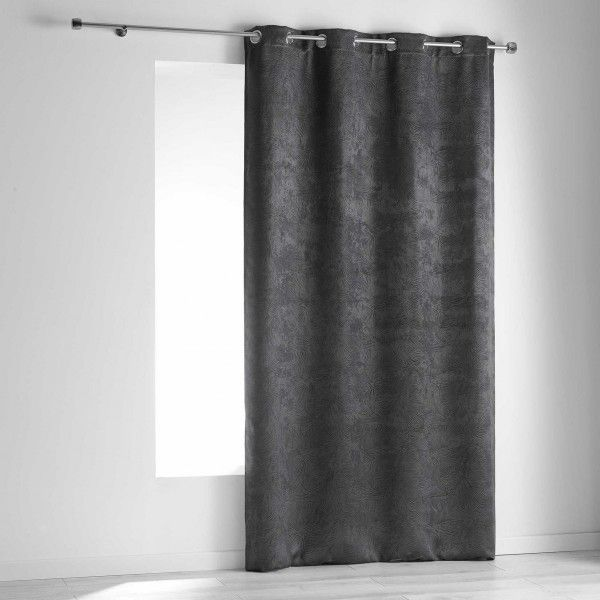 rideau occultant 140 x 240 cm dreamtime gris anthracite rideau voilage store eminza. Black Bedroom Furniture Sets. Home Design Ideas