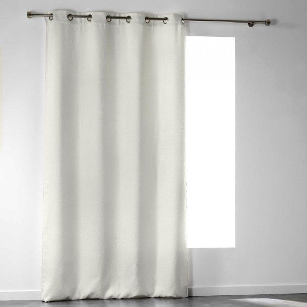 rideau occultant blanc rideau et voilage eminza. Black Bedroom Furniture Sets. Home Design Ideas
