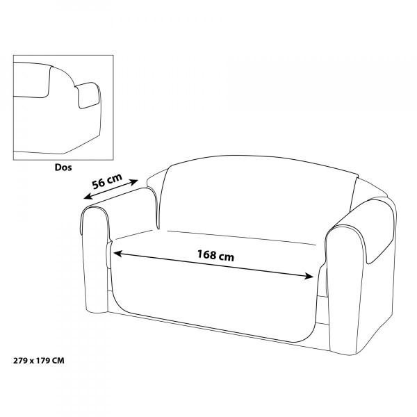 housse de canap 3 places kiria gris d co textile eminza. Black Bedroom Furniture Sets. Home Design Ideas