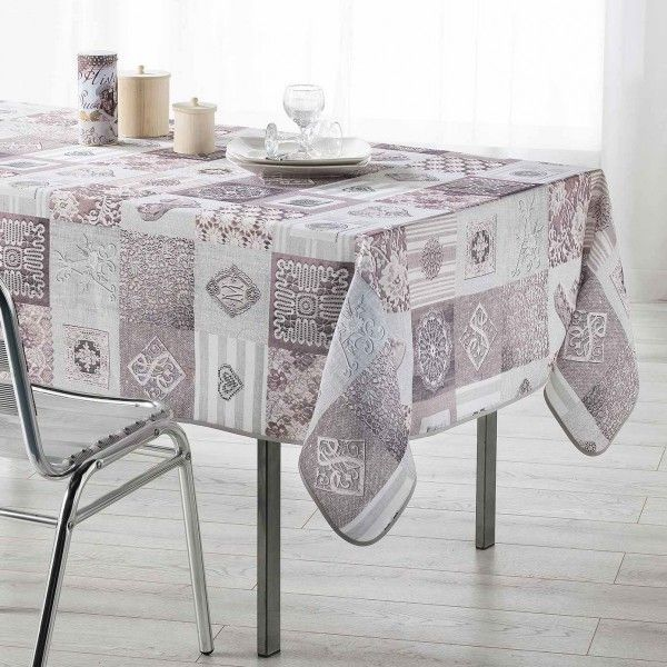 nappe de table rectangulaire l200 cm linge de table eminza. Black Bedroom Furniture Sets. Home Design Ideas