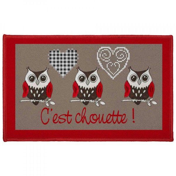 Tapis Multi Usage 80 Cm C Est Chouette Rouge Tapis Eminza