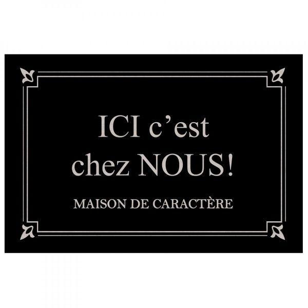Beau Tapis Du0027entrée (60 Cm) Photoprint Maison De Caractère Noir