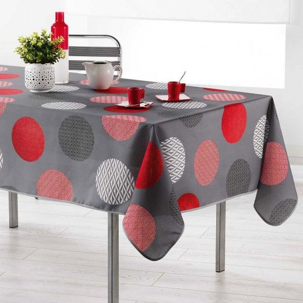 nappe rectangulaire l200 cm odaly rouge linge de table eminza. Black Bedroom Furniture Sets. Home Design Ideas