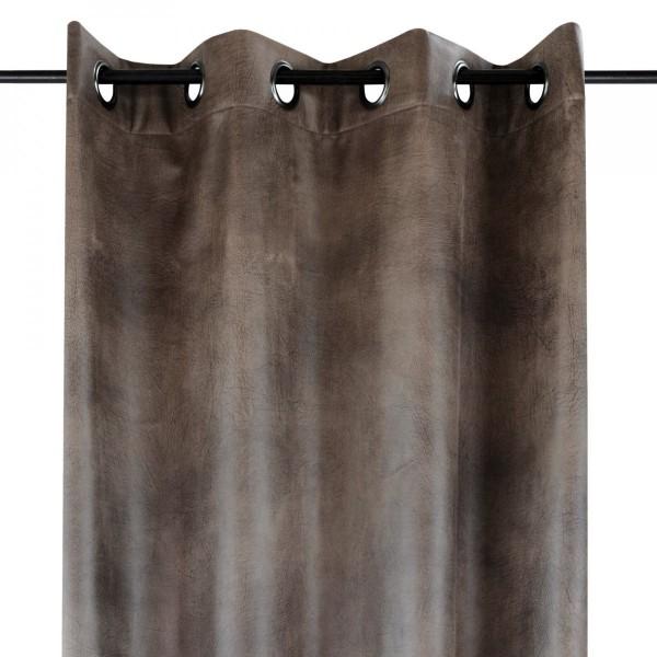 Rideau tamisant (135 x 250 cm) Tannerie Marron - Rideau tamisant ...
