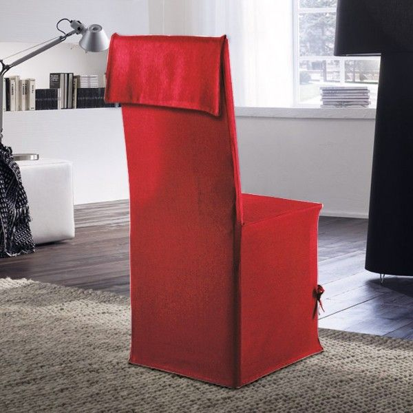 housse de canap chaise rouge eminza. Black Bedroom Furniture Sets. Home Design Ideas
