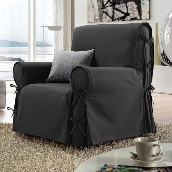 housse de fauteuil stella gris anthracite d co textile eminza