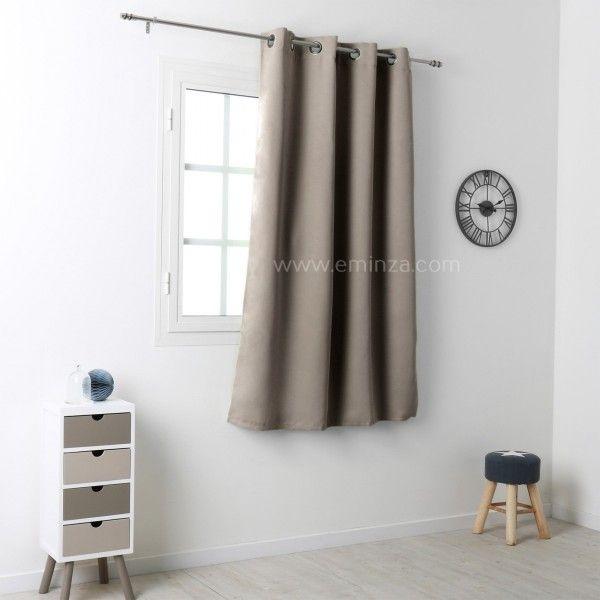 rideau occultant 135 x h180 cm notte lin rideau occultant eminza. Black Bedroom Furniture Sets. Home Design Ideas