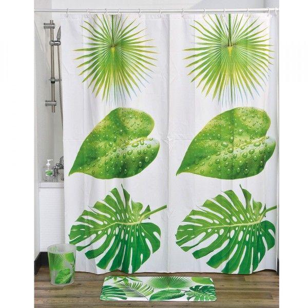 rideau de douche vert douche baignoire eminza. Black Bedroom Furniture Sets. Home Design Ideas