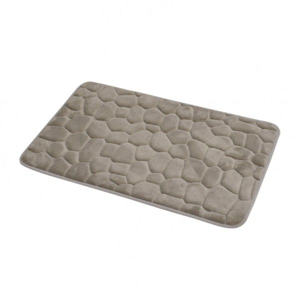 tapis mmoire de forme galet taupe - Tapis Taupe