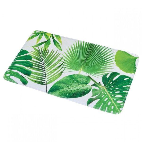 tapis de bain jardin chic vert tapis salle de bain wc. Black Bedroom Furniture Sets. Home Design Ideas